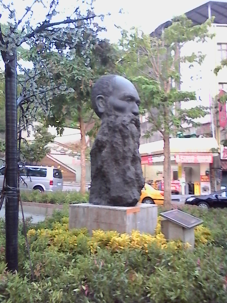 A sculpture of George McKay on McKay Street, Tamsui. A man who is perhaps Formosa's most colorful character. Photo: Trista di Genova
